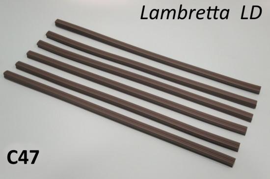 Set of 6 x floor runner rubber inserts for Lambretta LD