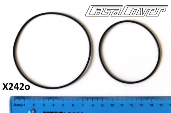 Pair of Viton 'O' rings for CasaCover engine sidecasing by Casa Performance