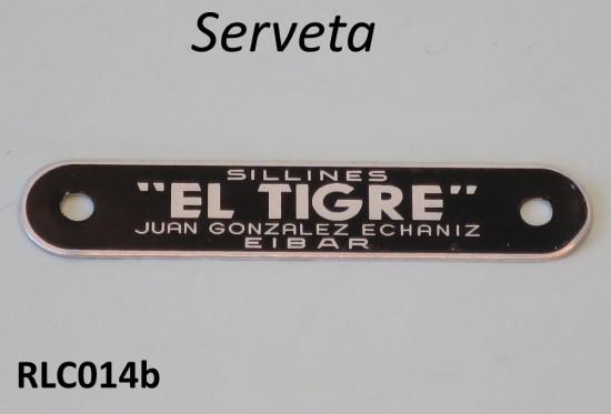 'El Tigre' rear seat cover badge for Serveta