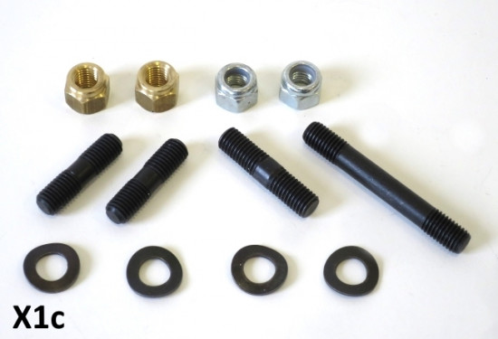 Set of inlet + exhaust studs for Casa 185 - 225 piston ported kits (+ most post. '57 Lambrettas)
