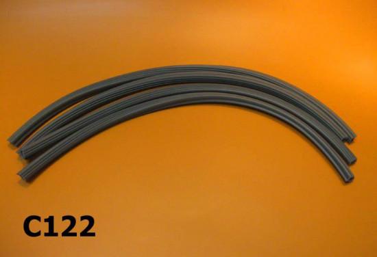 Set of 4 floor channel runner rubber strips for Lambretta J50 Deluxe