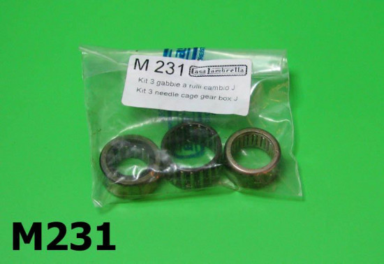 Engine 3 piece needle roller kit Lambretta J