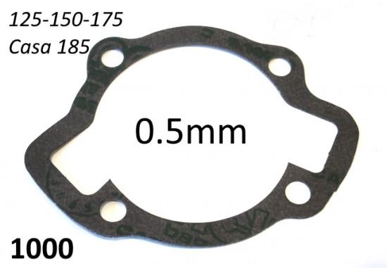 Cylinder base gasket 0.5mm for Lambretta S1 + S2 + TV2 + S3 + TV3 + Special + SX + DL + Serveta (125,150 & 175cc)