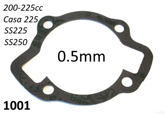 Cylinder base gasket 0.5mm for Lambretta SX 200 + DL 200 + 225 kits