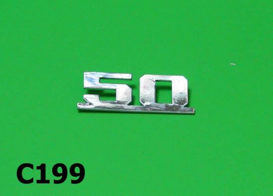 '50' legshield badge