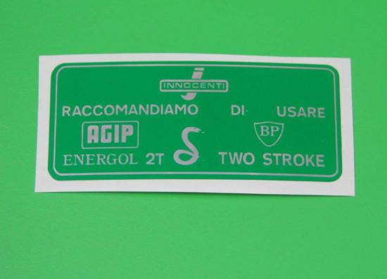 green petrol sticker for petrol flap