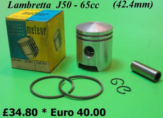 Complete 65cc conversion piston for Lambretta 50cc (42.4mm)