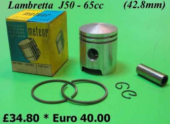 Complete 65cc conversion piston for Lambretta 50cc (42.8mm)