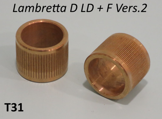 Pair of bronze bushes for lower fork covers