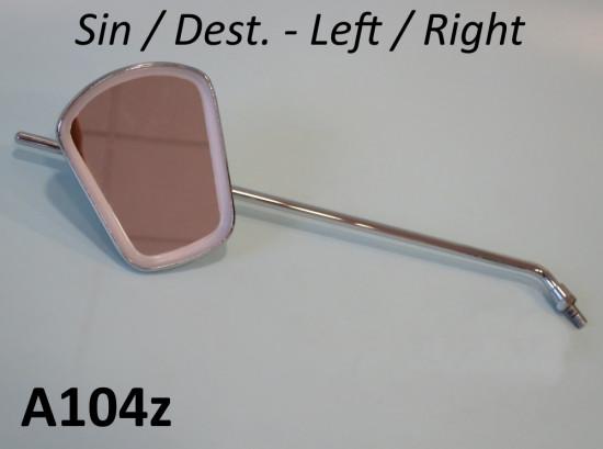 Rectangular LEFT / RIGHT hand chromed LONG stemmed mirror