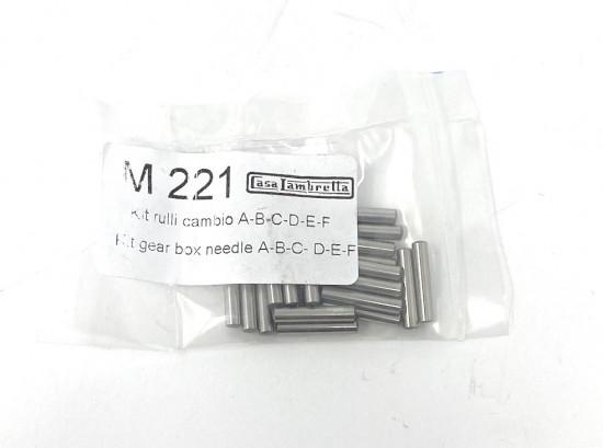 Gearbox needle roller bearings kit Lambretta A + B + C + LC + D + LD + E + F