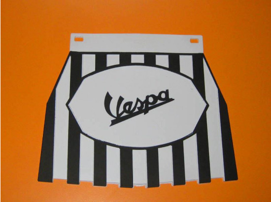 Black & white Vespa mudflap