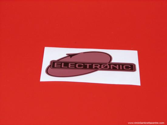 'Electronic' legshield sticker