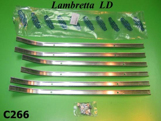 Complete floor channel set + fixing kit for Lambretta LD