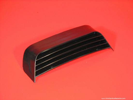 Plastic rear frame grille black