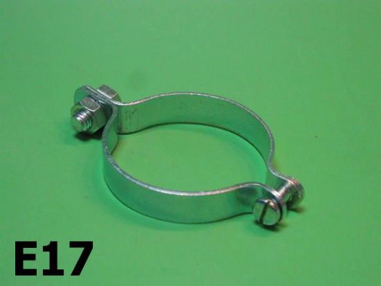 Horn mounting clamp for fork tube