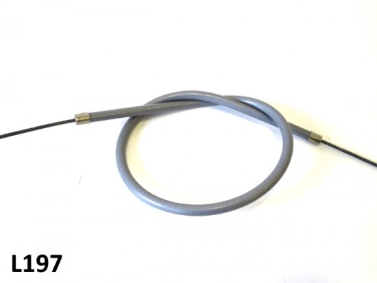 Very high quality complete grey rear brake cable
