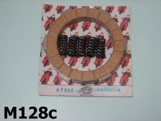 Surflex clutch plates (4 plates) + uprated springs for Lambretta 200cc models