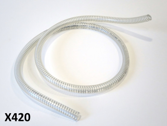 Toyox fuel line with internal stainless spring (1 metre) for Lambretta + Vespa