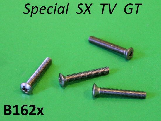 Set of 4 x screws for front headlight rim Lambretta Special TV GT SX