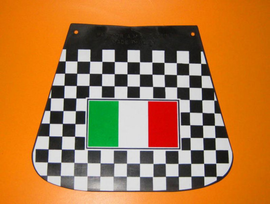 Chequered rear mudflap with Italian flag
