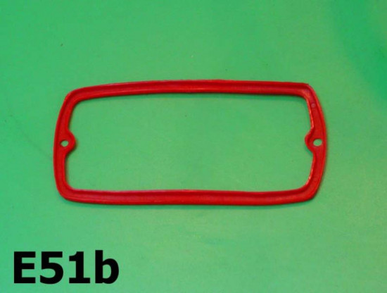 Red plastic gasket for Carello rear light lense