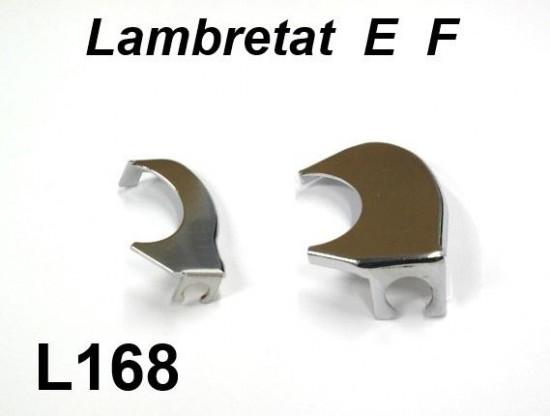 Pair of chrome handlebar gearchange + throttle mechanism covers