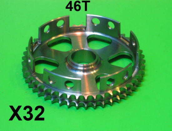 46T lightweight clutch crown wheel sprocket for Lambretta S1 + S2 + S3 + GP DL + Serveta