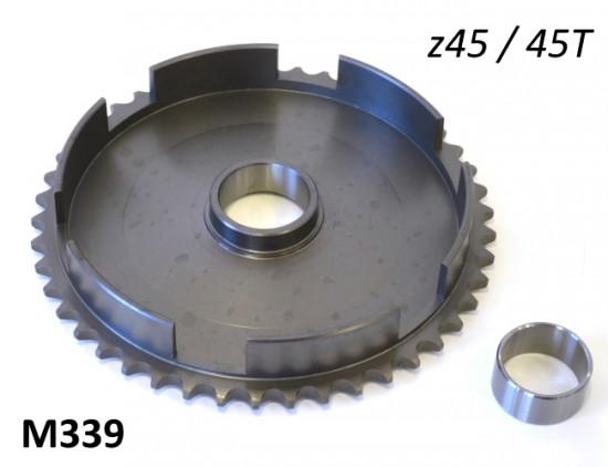 45T clutch bell crownwheel sprocket for Lambretta J50 Deluxe + J50 Special