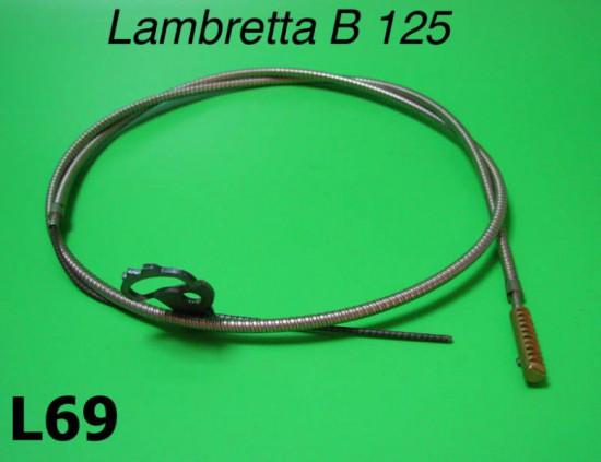 Complete Teleflex control cable + adapter Lambretta B