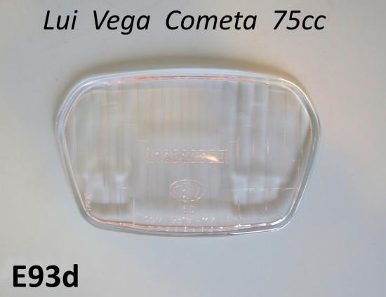 CEV type front headlight glass (only) for Lambretta Lui Vega Cometa 75cc
