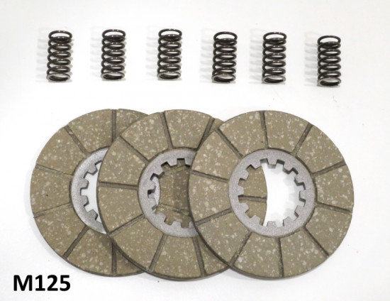 Set of clutch plates + springs