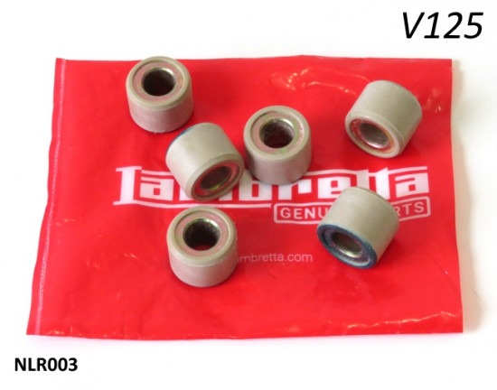 Set of variator rollers (std. weight) for Lambretta V125 Special