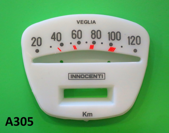 120 Kmh speedo face Lambretta  TV3 + SX + Special