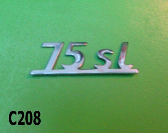 Legshield badge '75SL' Lui Cometa