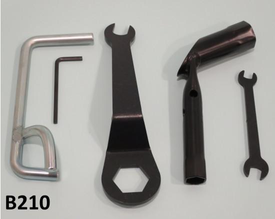 Set 5 chiavi per manutenzione (kit tipo originale) per tutti i modelli di Lambretta
