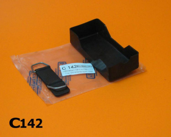 Under seat toolroll tray & clip