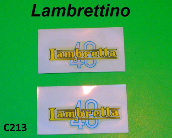 Pair of 'Lambrettino 48' stickers
