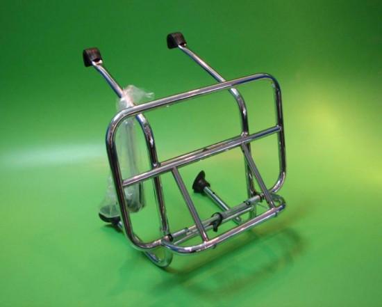 Chrome front carrier accessory for most Lambretta + Vespa models