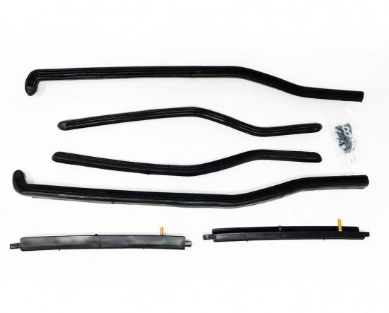Complete black footboard plastic runner kit for Lambretta GP/DL