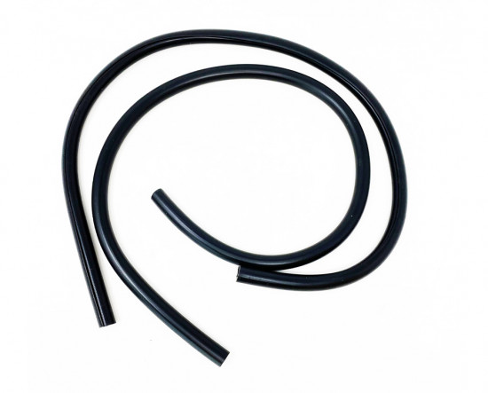 Pair of black legshield rubber beadings