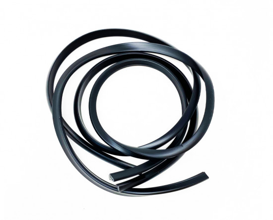 Pair of black sidepanel rubber beadings for Lambretta J50 Special