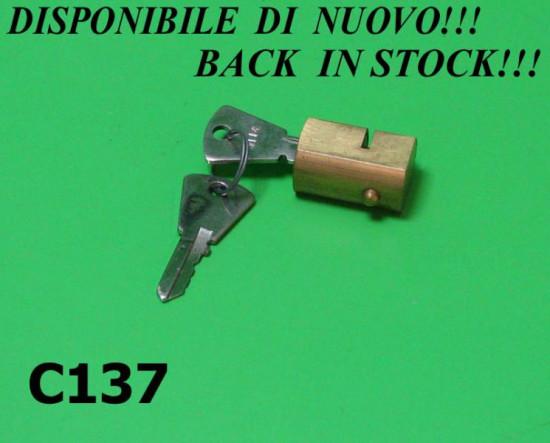 Steering lock (rectangular type) for Lambretta J