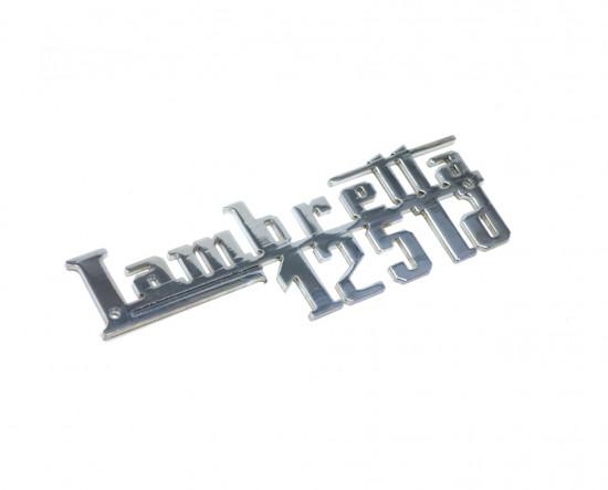 Chrome 'LD125' legshield badge