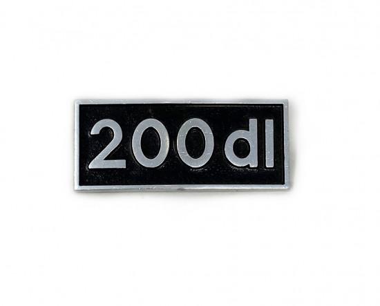 '200DL' legshield badge for Lambretta DL200