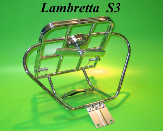 Upright rear carrier & spare wheel holder (Deluxe model) Lambretta S3 + GP DL + Serveta
