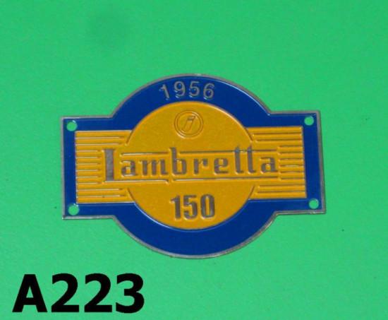 Stemma decorato sagomato Lambretta D150 LD150 '56