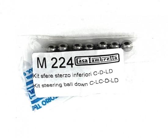 Lower steering race ball bearing set Lambretta C + LC + D + LD + E + F