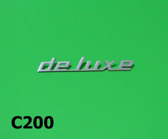 'Deluxe' sidepanel badge Lambretta J50 Deluxe