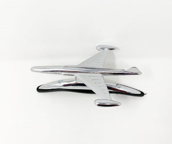 Chrome airplane front mudguard accessory for ambretta C + D + E F + S1 + S2